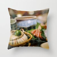japanese Throw Pillows featuring Japanese by Laura L.