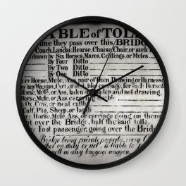 The Ironbridge Tolls Wall Clock