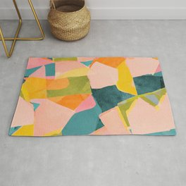 Fun Beautiful Cloodiscope Paper Cut Out Patterns Fun Summer Tropical Style Rug