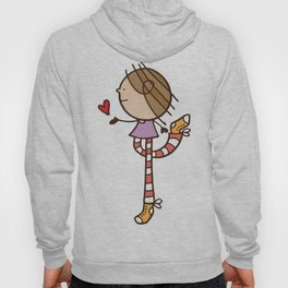 Girl with long legs and a love heart Hoody