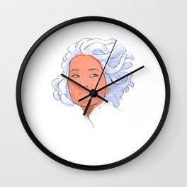 medusa abstract art asian Wall Clock