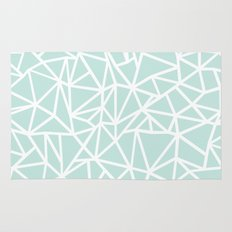 Ab Outline Thick Mint Rug