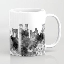 Paris skyline in black watercolor Coffee Mug