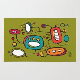 Scribbles 02 in Color Rug