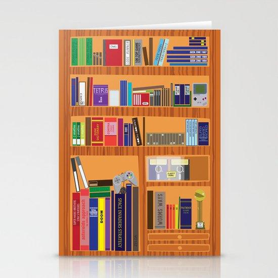 Video Game Geek's Bookshelf Stationery Cards