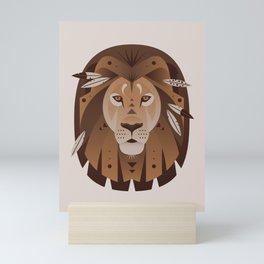 Geometric Lion Mini Art Print