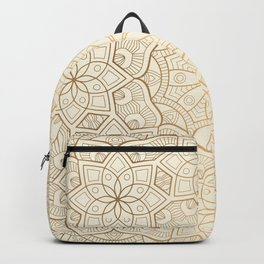 Golden Mandala Background Pattern Backpack
