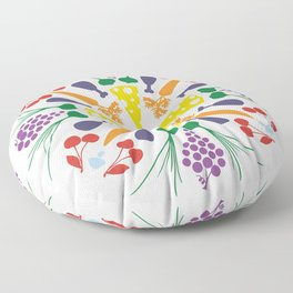 Vegetables Mandala Floor Pillow