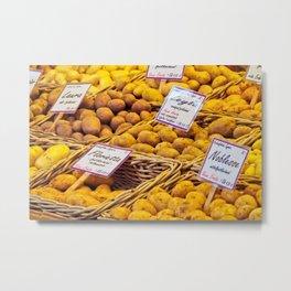 Potatoes -  Vegetables -  Food -  Cook -  Nutrition -  Market - Vintage illustration. Retro décor. Metal Print