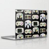 gamer Laptop & iPad Skins featuring Gamer Nostalgia by discojellyfish