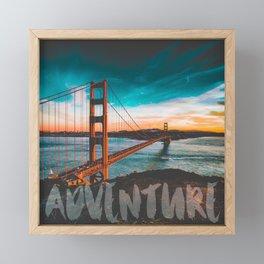 ADVENTURE San Francisco Framed Mini Art Print