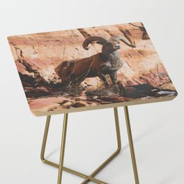 Zion Bighorn Sheep Side Table