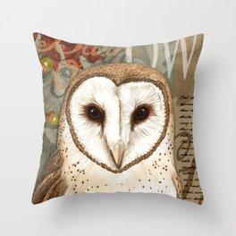 The Barn Owl Journal Throw Pillow