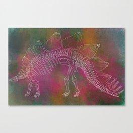 Stegosaurus Anatomy Canvas Print