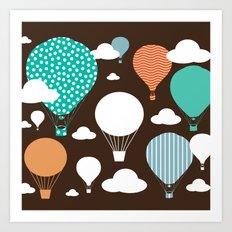 Hot air balloon chocolate Art Print