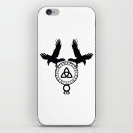 Norse Ravens - Celtic Knot iPhone Skin