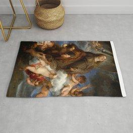 "Sir Anthony van Dyck ""Saint Rosalie Interceding for the Plague-stricken of Palermo"" Rug"