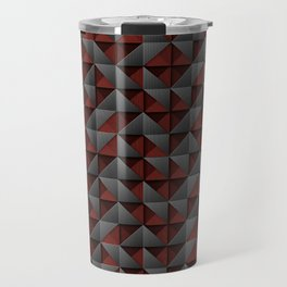 Tech Mosaic Red Travel Mug