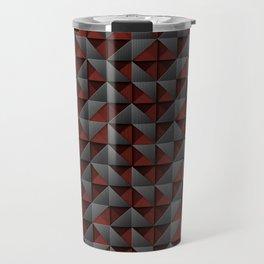 Tech Mosaic Red Travel Mug