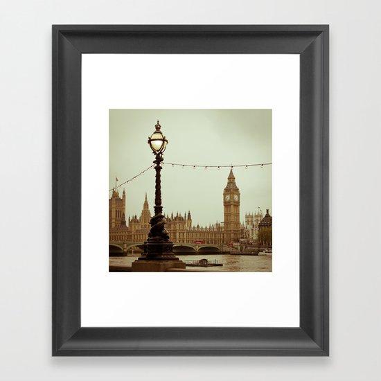 The old clock Framed Art Print