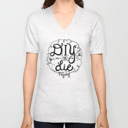 DIY or DIE trying Chalkboard Print Unisex V-Neck
