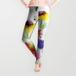 Summer Wildflowers Leggings
