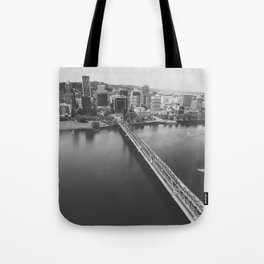 Portland From Above Tote Bag