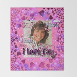 WE Love U - David Cassidy Throw Blanket