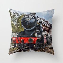 Stanier 48624 colour, landscape Throw Pillow