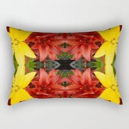 """A Gathering of Lilies"" Remix - 3 (1-1) [D4468~49] Rectangular Pillow"