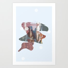 A Tale of Two Towns Art Print
