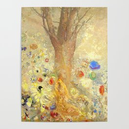 """Odilon Redon """"Buddha in His Youth"""" Poster"""