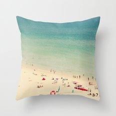 beach XIX Throw Pillow