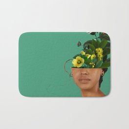 Lady Flowers VII Bath Mat