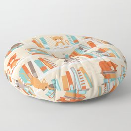 Library cats Floor Pillow