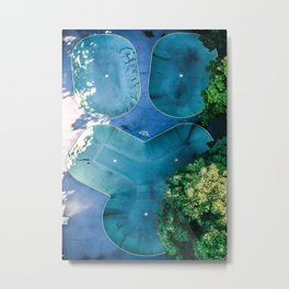 Skatepark - Aerial Photography Metal Print
