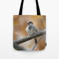 sparrow Tote Bags featuring Sparrow by Tammi Hofstetter