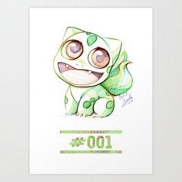 Cute Little Bulba  Art Print