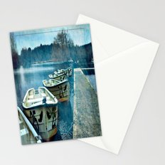 Boats in blue Stationery Cards