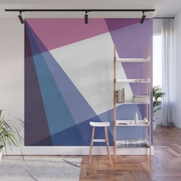 Fig. 003 Colorful Geometric Shapes Pink Blue Wall Mural