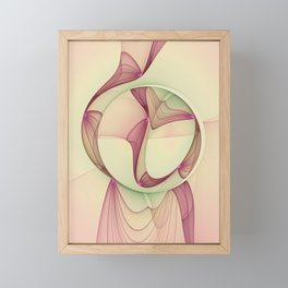 The Abstract Elegance, Modern Fractal Art Framed Mini Art Print