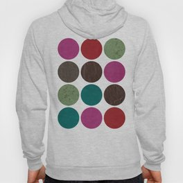 leather dots on white Hoody