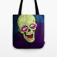 zombie Tote Bags featuring Zombie by Francisco Martinez