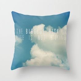 Risk Throw Pillow