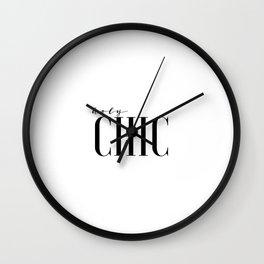 Printable Wall Art Fashion Art Fashion Girl Fashionista Holy Chic Girls Room Print Black And White Wall Clock