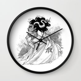 Inktober Bride of Frankenstein Wall Clock