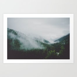 Misty Mounta Art Print