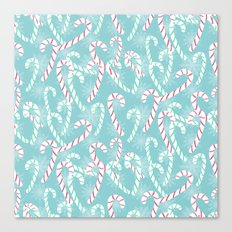 Frosty Canes Canvas Print
