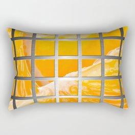 Orange Slices & Square Grid Collage Metallic Rectangular Pillow