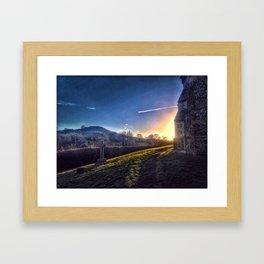 Churchyard Sunset Framed Art Print